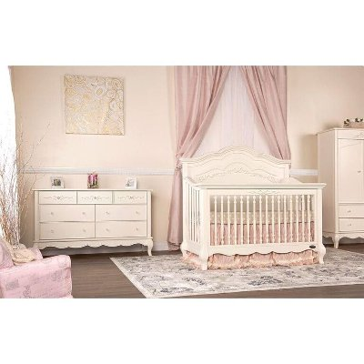 ivory lace 5 in 1 convertible crib rc willey furniture