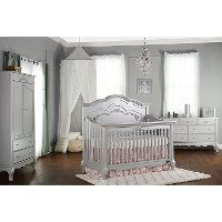 Grey Pearl 5 in-1 Convertible Crib - Aurora