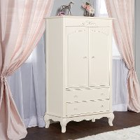 Ivory Lace Armoire - Aurora