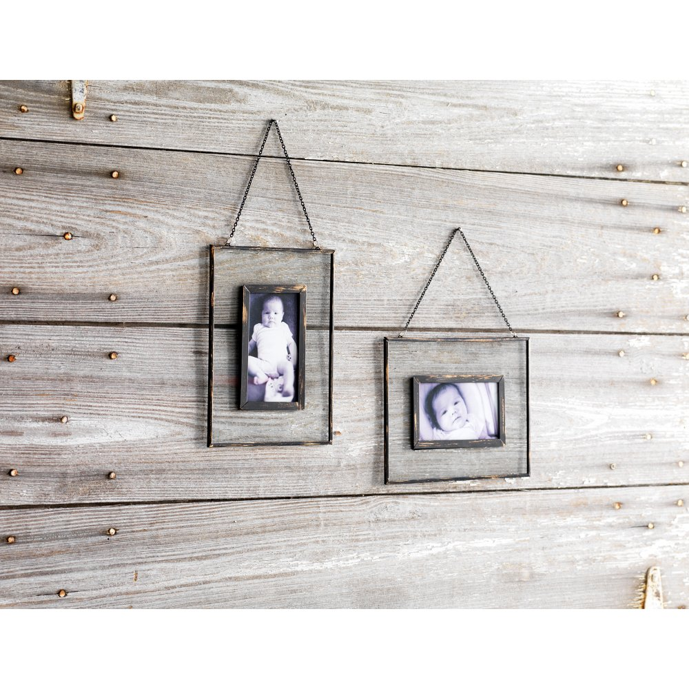 Shop picture frames rc willey furniture store assorted metal and glass hanging picture frame with chain jeuxipadfo Choice Image