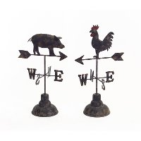 Assorted Pig or Rooster Weather Vane