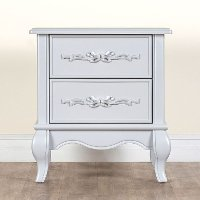 Grey Pearl 2-Drawer Nightstand - Aurora