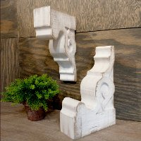 Assorted Distressed White Wooden Corbel