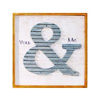 You and Me Wood and Metal Sign