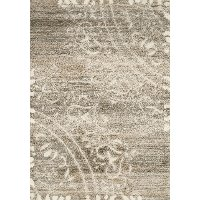 5 x 8 Medium Beige, Cream and Gray Area Rug - Olympia