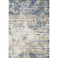 8 x 11 Large Gray, Beige & Blue Rug - Intrigue