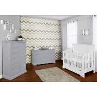 White/ Distressed Navy 5 in-1 Convertible Crib - Parker