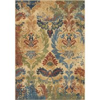 5 x 8 Medium Distressed Multi-Colored Area Rug - Bohemian