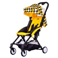 Black/ Yellow/ White Urban Stroller - Mia Moda