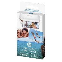 1AH01A HP ZINK Sticky-Backed 2x3 Inch Photo Paper for HP Sprocket - 20 Sheet Pack
