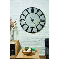 Magnolia Home Furniture Gray and Metal Industrial Wall Clock