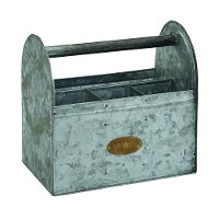 Magnolia Home Furniture Aged Zinc Tin Tote with 4 Compartments