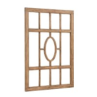 Magnolia Home Furniture Driftwood Center Oval Window Pane