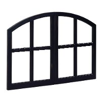 Magnolia Home Furniture Chimney Black Simple Window Pane