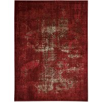 8 x 11 Large Red Area Rug - Karma