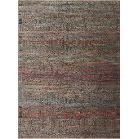 8 x 10 Large Charcoal Gray & Sunset Area Rug - Javari