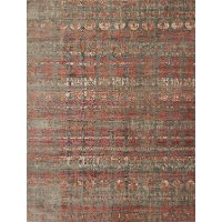 JV-07/5.3X7.4-STEELSUNRISE 5 x 7 Medium Steel Gray and Sunrise Area Rug - Javari