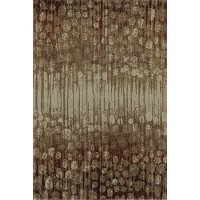 8 x 11 Large Spice Brown and Rust Area Rug - Upton