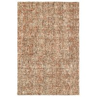 8 x 10 Large Kaleidoscope Brown, Rust and Ivory Area Rug - Calisa