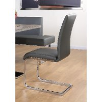 Gray Modern Dining Chair - Zenith