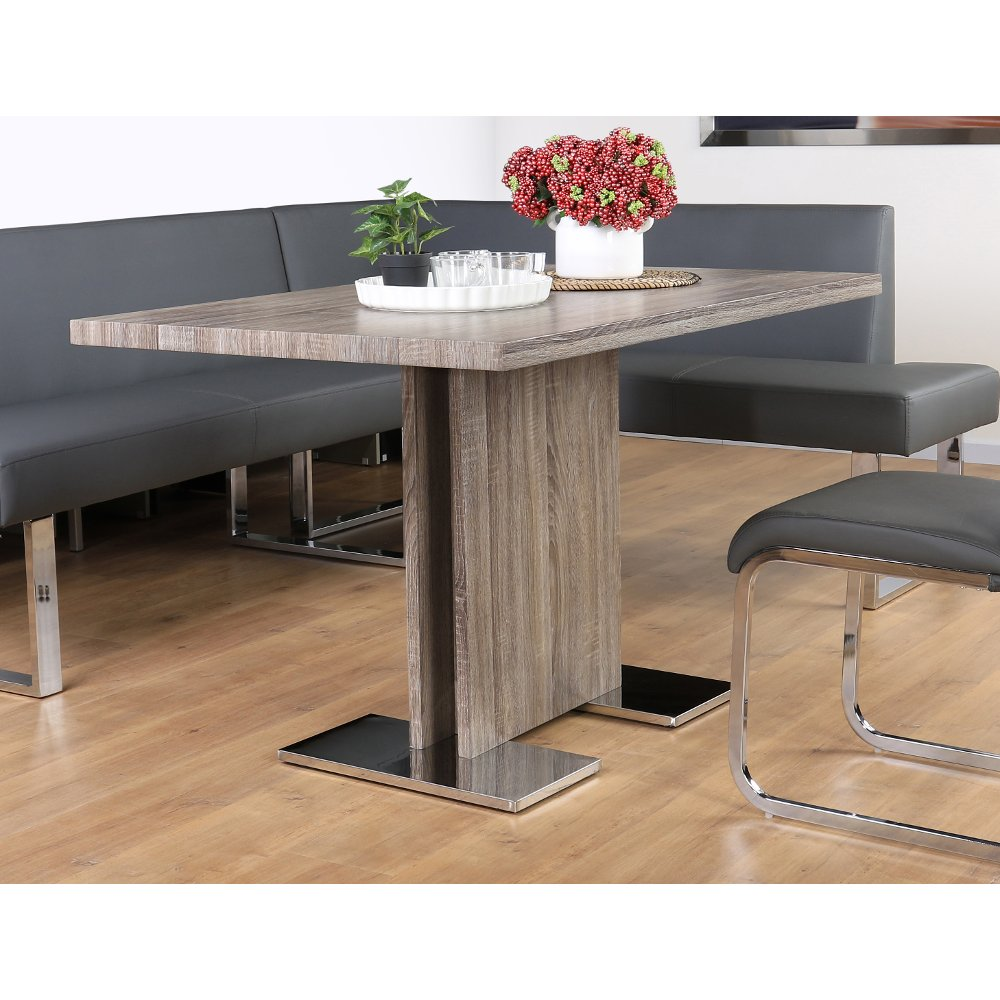... Walnut Gray Modern Dining Table   Zenith