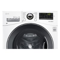 LG SmartDiagnosis Compact Front Load Washer - 2.3 cu. ft. White