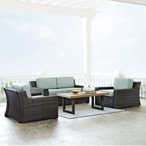 KO70096BR Beaufort Mist Dark Brown Outdoor Wicker 4 Piece Set Free Shipping