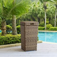 CO7306-WB Outdoor Wicker Trash Can - Bradenton