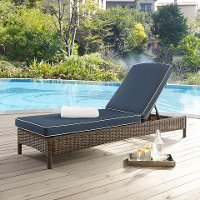 KO70070WB-NV Outdoor Wicker Chaise Lounge - Bradenton