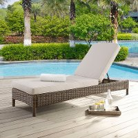 KO70070WB-SA Sand Outdoor Wicker Chaise Lounge - Bradenton