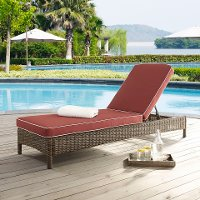 KO70070WB-SG Sangria Outdoor Wicker Chaise Lounge - Bradenton