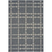 4 x 6 Small Charcoal Gray Indoor-Outdoor Rug - Finesse-Tower Court