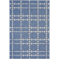 4 x 6 Small Capri Blue Indoor-Outdoor Rug - Finesse-Tower Court