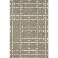 8 x 11 Large Barley Tan Indoor-Outdoor Rug - Finesse-Tower Court