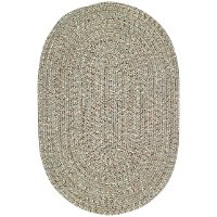 5 x 8 Medium Spa Green Oval Braided Indoor-Outdoor Rug - Sea Glass