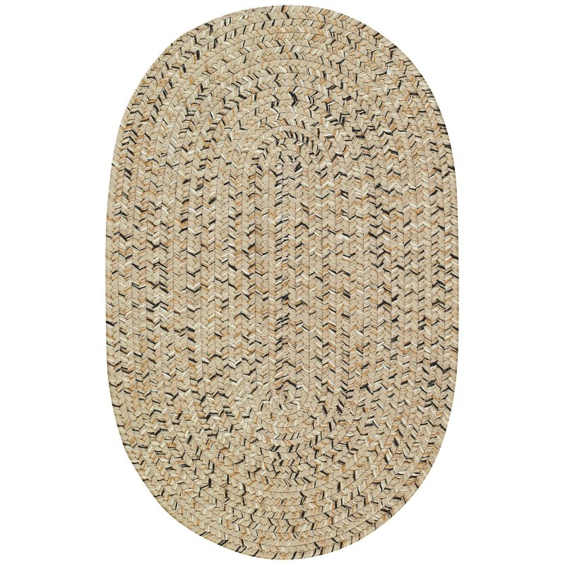 2 x 3 x small shell taupe oval braided indoor outdoor rug   sea glass rcwilley image1~800