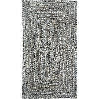 2 x 3 X-Small Smokey Quartz Gray Braided Indoor-Outdoor Rug - Sea Glass