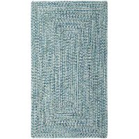 2 x 3 X-Small Ocean Blue Braided Indoor-Outdoor Rug - Sea Glass