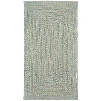 2 x 3 X-Small Spa Green Braided Indoor-Outdoor Rug - Sea Glass