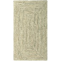 5 x 8 Medium Shell Taupe Braided Indoor-Outdoor Rug - Sea Glass