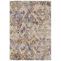 8 x 11 Large Cream Area Rug - Emerson