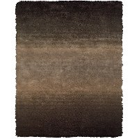 5 x 8 Medium Brown Shag Rug - Indochine