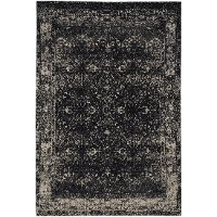 5 x 8 Medium Onyx Black Area Rug - Cosmic-Star