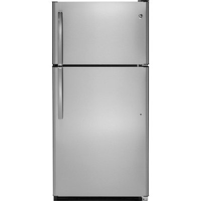 GTS21FSKSS GE 33 Inch Top Freezer Refrigerator   Stainless Steel