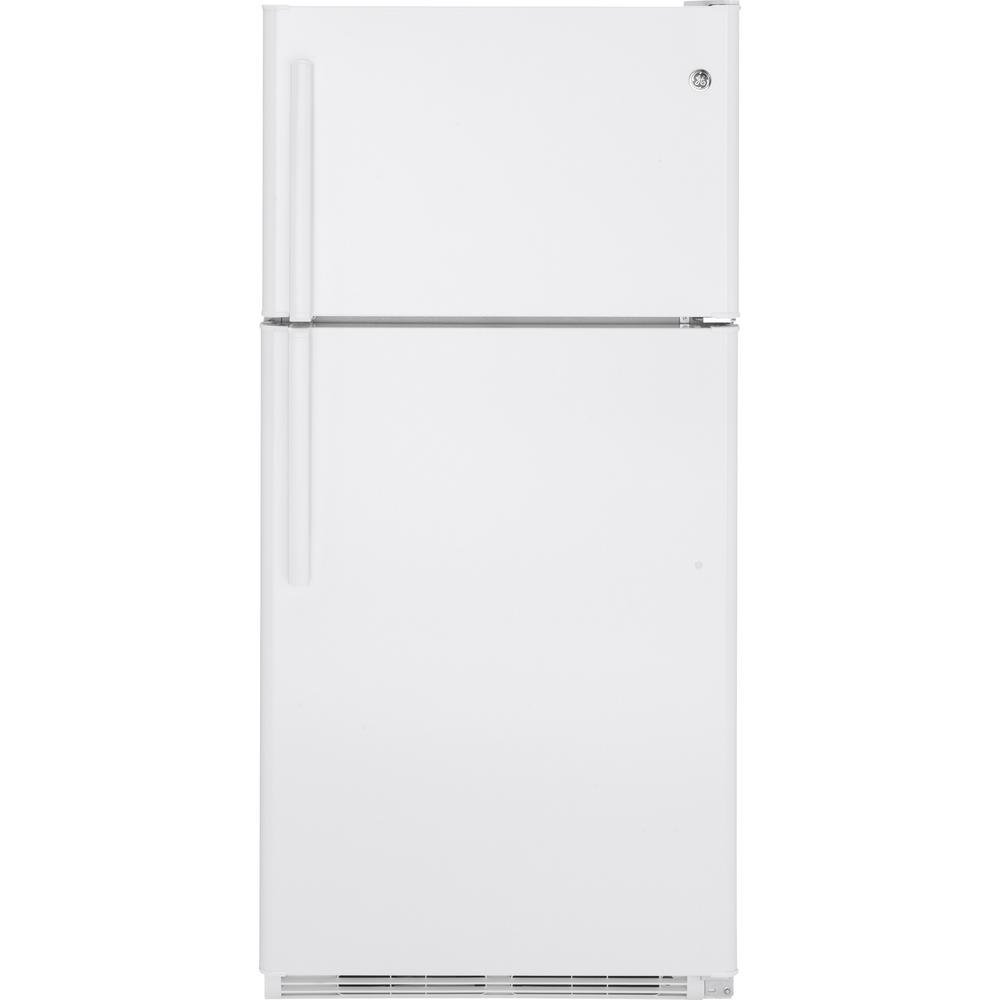 GE 33 Inch Top Freezer Refrigerator   White | RC Willey Furniture Store