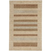 8 x 10 Large Stucco Beige Area Rug - Simply Gabbeh