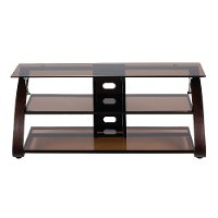 55 Inch Contemporary Mocha Brown TV Stand - Keira