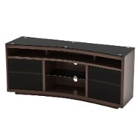 Dark Cherry Curved TV Stand (60 Inch) - Radius