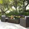 KO70004BR-GY Gray and Brown 3 Piece Wicker Patio Furniture Set - Palm Harbor