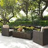 KO70004BR-SA Sand and Brown 3 Piece Wicker Furniture Set - Palm Harbor